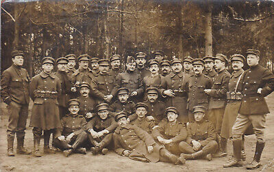 Org foto ABL:  Piotten in opleiding in Camp 'd Auvours Frankrijk 1914-18 W.O.I