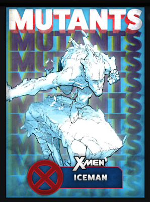 Topps Marvel Collect Card Trader X-Men Mutants Blue Iceman [Digital]