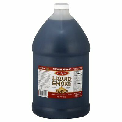 """COLGIN LIQUID SMOKE"" - Natural HICKORY BBQ Marinade! LARGE 1 US Gallon Bottle"