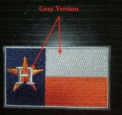 Houston Astros Texas Flag Patch - GRAY Version Baseball Jersey Patch  Bregman