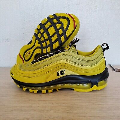 NIKE AIR MAX 97 (GS) Athletic Sneakers Bright Citron Black