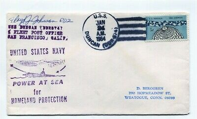 US Naval Ship Cover - USS DUNCAN (DDR-974) - 1964