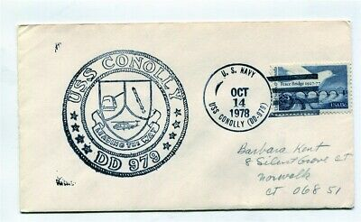 US Naval Ship Cover - USS CONOLLY (DD979) - 1978