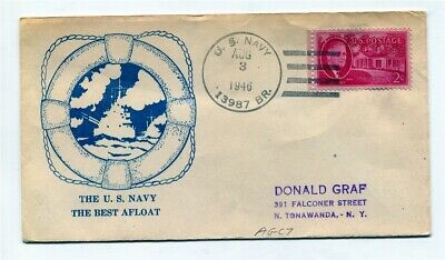 US Naval Ship Cover - US Navy - 1946