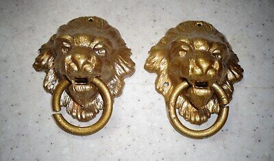 Antique French and / or American Cast Figural Clock Lion Attachments