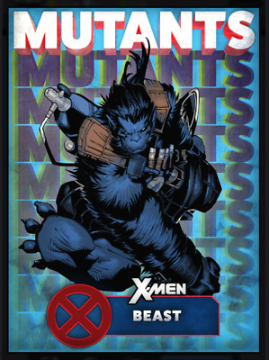 Topps Marvel Collect Card Trader X-Men Mutants Blue Beast [Digital]