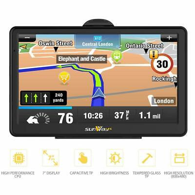 Sunways SAT NAV 7 inch 8 GB high brightness touchscreen gps navigator including
