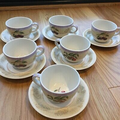 Marks And Spencer Wild Fruits Cups And Saucers X 6