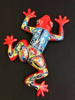 "Large 23"" Wall Frog - Mexico Talavera Pottery - Nicest Design I've seen!"