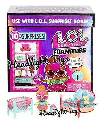 LOL Surprise NEON QT BEDROOM Doll House Furniture Set Series 1 Big Sister OMG 6