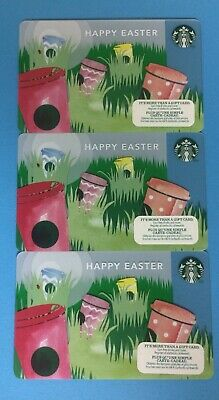 2013 STARBUCKS CANADA GIFT CARD LOT X 3 - Happy Easter - New No Value