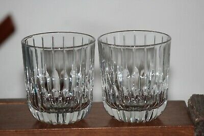 Mikasa Park Avenue Double Old Fashioned Glass~Set Of 2~Preowned~Clean~Nice