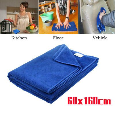 Absorbent Microfiber Car Washing Towel Auto Kitchen Cleaning Drying Cloth 60x160