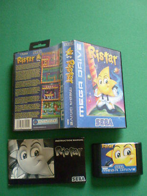 SEGA MEGADRIVE RISTAR Complet Boîte Notice Boxed Manual PAL