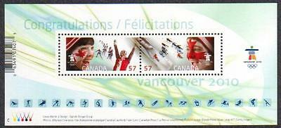 Canada - #2373 Celebrating Our OLYMPIC Spirit Souvenir Sheet - MNH