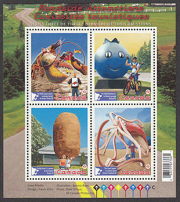 Canada - #2484  ROADSIDE ATTRACTIONS  Souvenir Sheet  - MNH - 2011