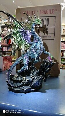 Dragon On Mountain Statue Ornament 42 cm