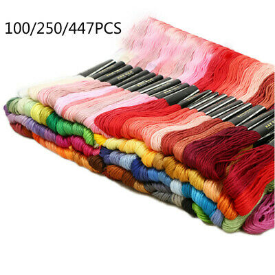 447 Colors Cotton Line Floss Sewing Skeins Cross Stitch Thread Color Embroidery