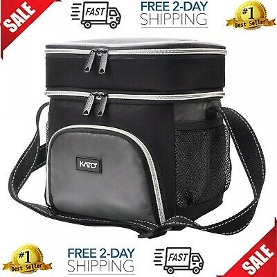Kato Extra Large Lunch Bag for Men Women Insulated Adult Reusable Meal Prep B