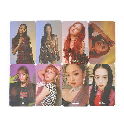 Kpop SQUARE UP Blackpink Photocards Poster Album Paper Cards Photo Card Gift
