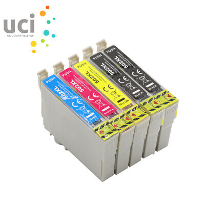 5 X Ink Cartridge UCI® fits Epson WF-2860DWF WF-2865DWF XP-5100 XP-5105 502XL