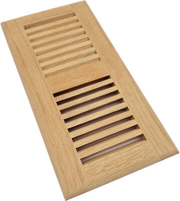 Homewell 4x10 Inch Red Oak Wood Floor Register, Drop In Vent Cover, Unfinished