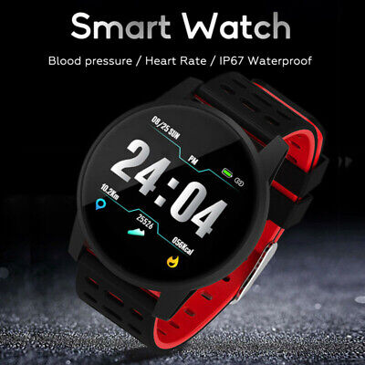 Heart Rate Blood Pressure Monitor Fitness Tracker Smart Watch Bracelet Wristband