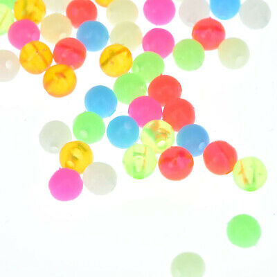 1000Pcs Colorful Luminous SEA Fishing Beads Rig Lures Floating Glow In The Dark