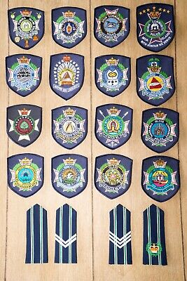 Set of OBSOLETE Community QUEENSLAND POLICE  PATCHES AND EPPS (badges) New Cond
