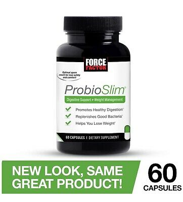 Force Factor Probioslim Probiotics + Weight Loss Supplement Burn Fat Lose Reduce