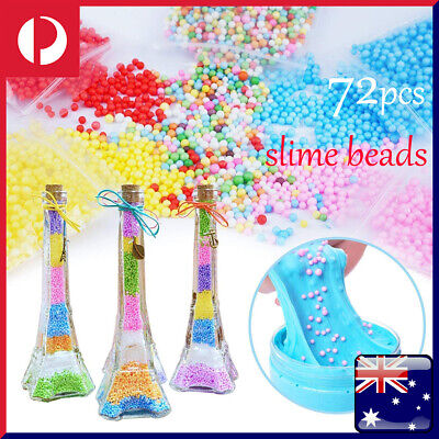 Glue 72Pcs Kit Slime Supplies Slime Beads Charms Accessories Children DIY Tools