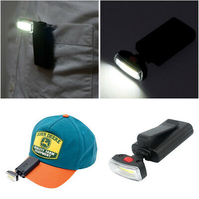 Bright Clip-on Hat LED Light Headlamp Torch Floodlight Fishing Camping Outdoor