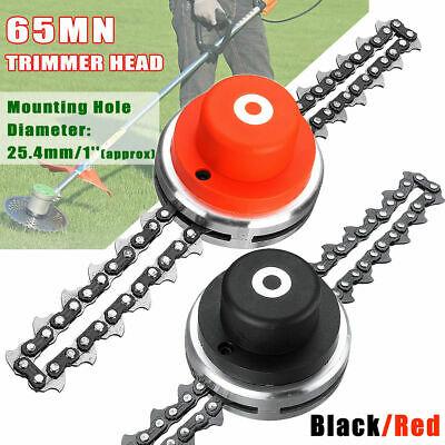 2 Types 65Mn Trimmer Head Coil Chain Brush Cutter Trimmer For Lawn Grass A1P3