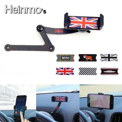 Red Union Jack Phone Mount Cradle Holder Stand For Mini Cooper F54 F55 F56 F60