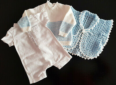 Gorgeous Outfit, Baby Boy - Vintage Jumper & Hug Me Tight & Bebe One Piece