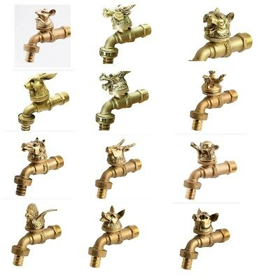 Outdoor Brass Garden Faucet Tap Spigot Vintage Water Home Decor