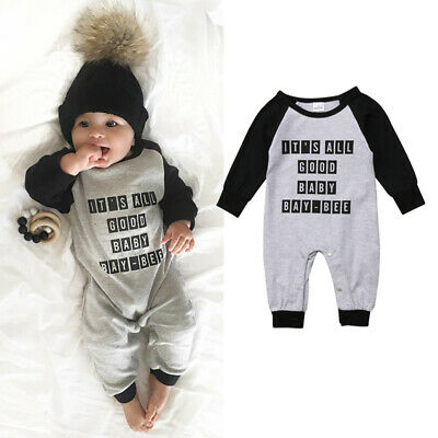 Infant Newborn Baby Boy Girl Kids Romper Jumpsuit Bodysuit Outfits Clothes 0-24M