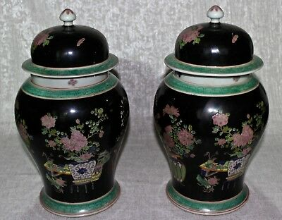 Antique Chinese Famille Rose porcelain jars 18th century