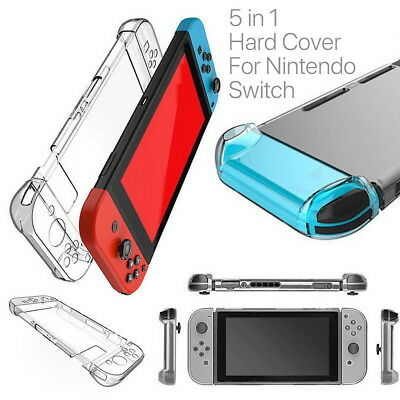 For Nintendo Switch Transparent Clear Shockproof Protective Hard Case Cover BS