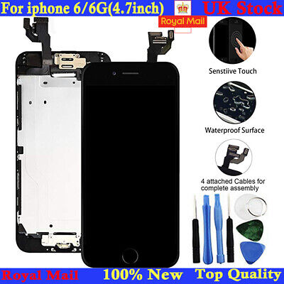 For iPhone 6/6G Screen Replacement LCD Display Touch Digitizer Button Camera UK