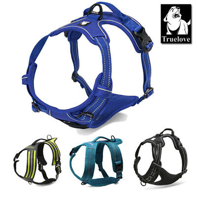 Genuine Truelove Dog Harness No-Pull Strong Adjustable Reflective/Lighted XS-XL