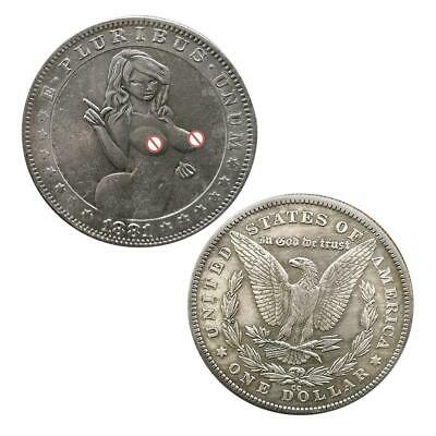 1881 Sexy Coins tail i get heads Commemorative Collectibles Souvenir Coin