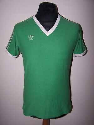 Size L 7/8 Vintage Adidas (Made In West Germany) Green Football Shirt