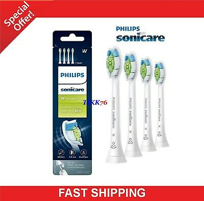 4 Original Philips Sonicare HX6064/65 Diamond Clean White Toothbrush Brush Heads
