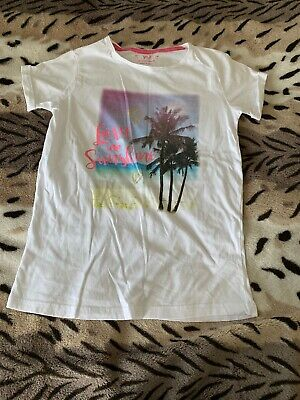 Girls TshirT By YD At Primark Tropical Island Love Sunshine Motif Age 11-12yrs