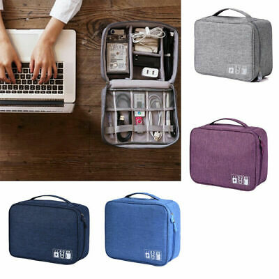 Multi-pocket Travel Electronics Storage Bag Organizer forData Cable USB Charger
