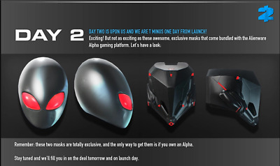 PAYDAY 2: ALIENWARE Alpha Mask Pack - $23 00 | PicClick