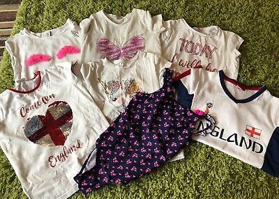 Girls Clothes Bundle Age 7-8 Years. Mixed Clothes Bundle.Tops & Swimming Costume