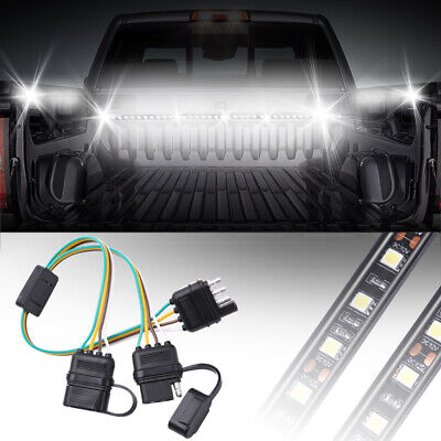 4pin flat rv trailer wiring harness connector y splitter tailgate light  adapter