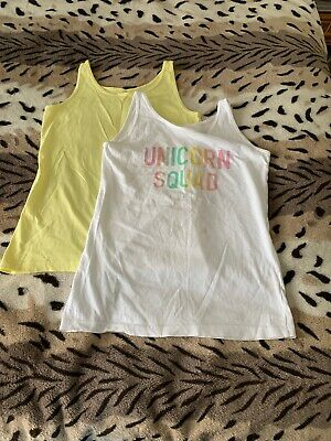 Girls T-shirt By Primark Pack Of 2 Girls Vest Tops Age 12-13 Yrs